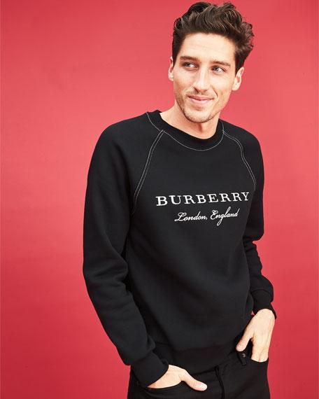 Taydon Embroidered Sweatshirt, Gray
