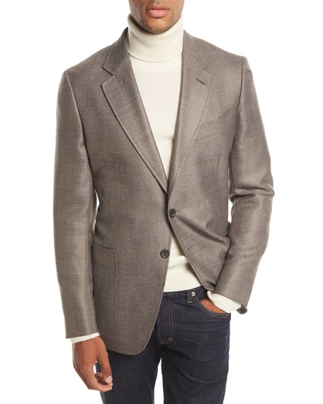 O'Connor Twill Two-Button Blazer