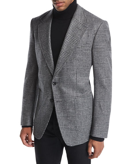 Shelton Base Prince of Wales Plaid Sport Jacket