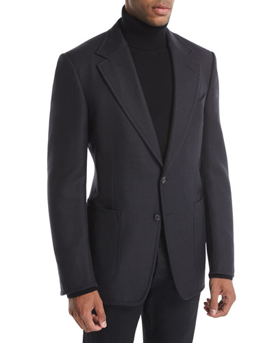 Shelton Base Double-Face Wool Sport Jacket