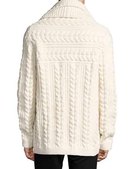 Neyland Double-Breasted Cable-Knit Cardigan