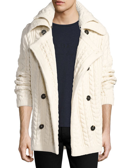 Burberry Neyland Double-Breasted Cable-Knit Cardigan