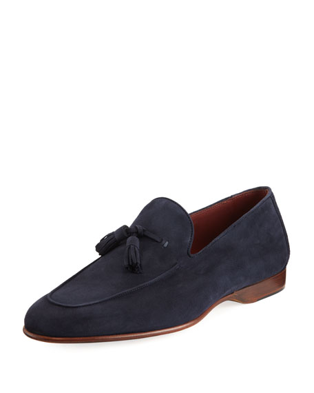 Magnanni for Neiman Marcus Suede Tassel Loafer