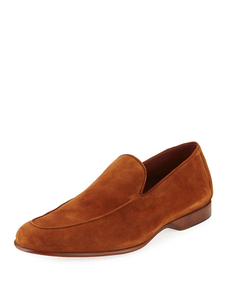 Magnanni for Neiman Marcus Calf Suede Loafer
