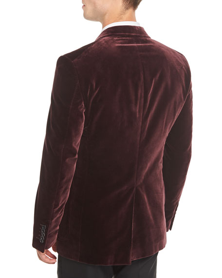 Shelton Velvet Patch-Pocket Tuxedo Jacket