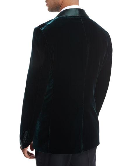 Shelton Base Liquid Velvet Tuxedo Jacket