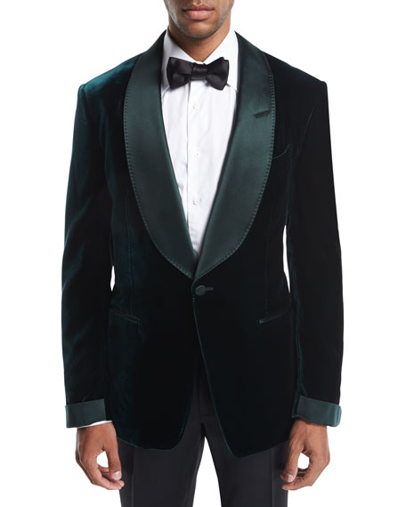 Shelton Base Liquid Velvet Tuxedo Jacket
