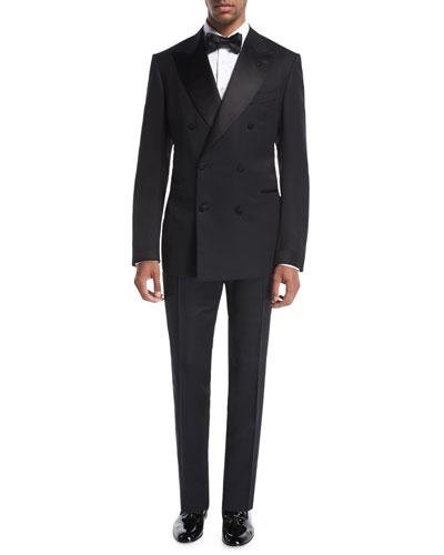 Shelton Base Double-Breasted Tuxedo Suit