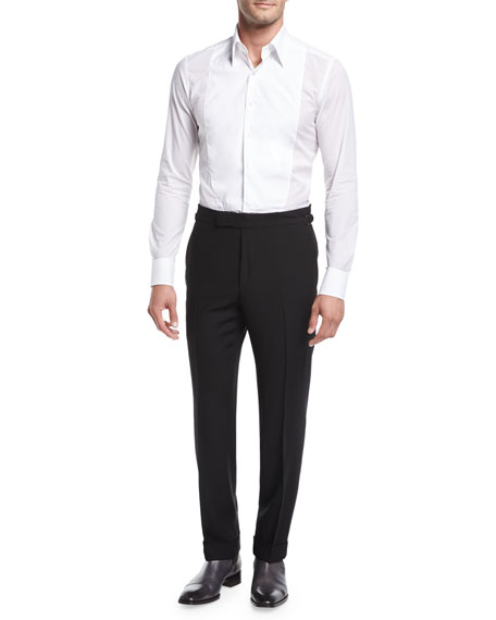TOM FORD O'Connor Base Twill Flat-Front Trousers