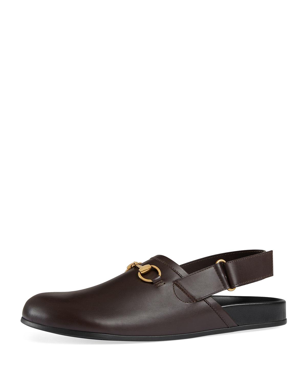 54bf3ecfa3e Gucci River Leather Horsebit Slide