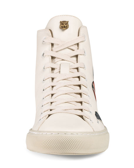 gucci shoes high top white. major snake-print leather high-top sneaker, white gucci shoes high top
