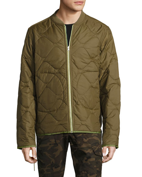 Yardon Reversible Quilted Jacket, Olive