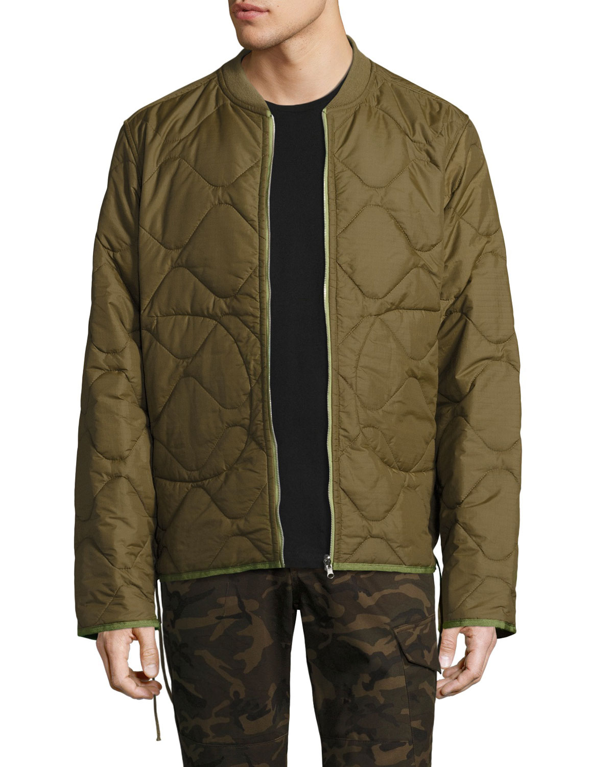 Ovadia Sons Yardon Reversible Quilted Jacket Olive Neiman Marcus