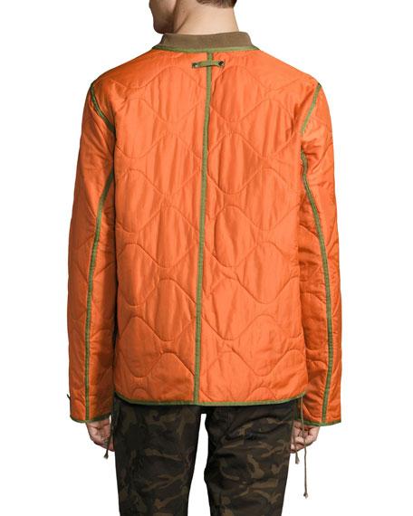 Yardon Reversible Quilted Jacket, Olive