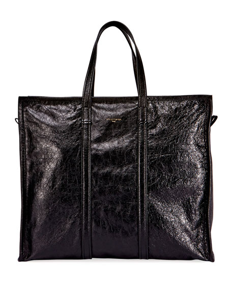 Bazar Leather Large Tote Bag, Noir
