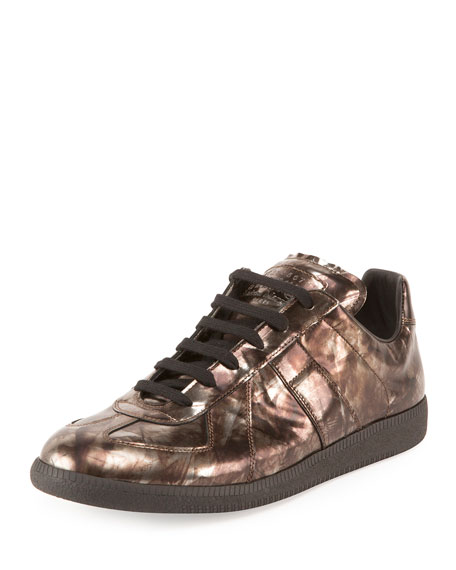 Maison Margiela Men's Replica Mirror Leather Low-Top Sneaker,