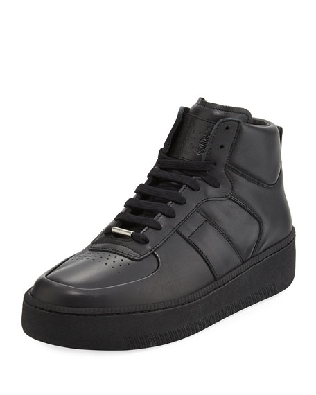 Maison Margiela Men's MM1 Leather Mid-Top Sneakers