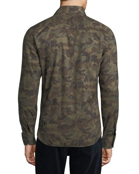 Camouflage-Print Sport Shirt