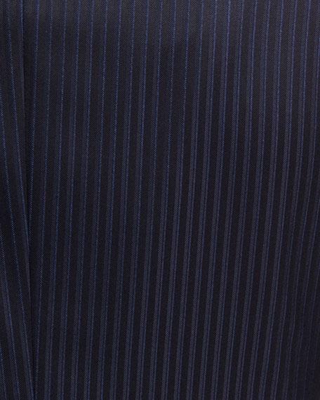 Tonal-Stripe Wool Two-Piece Suit