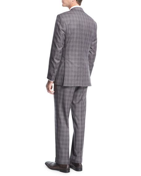 Plaid Wool Two-Piece Suit