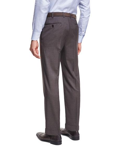 Micro-Tic Wool Trousers