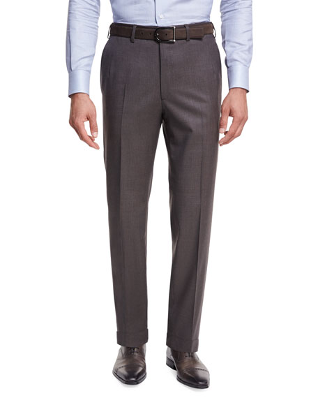 Micro-Tic Wool Trousers
