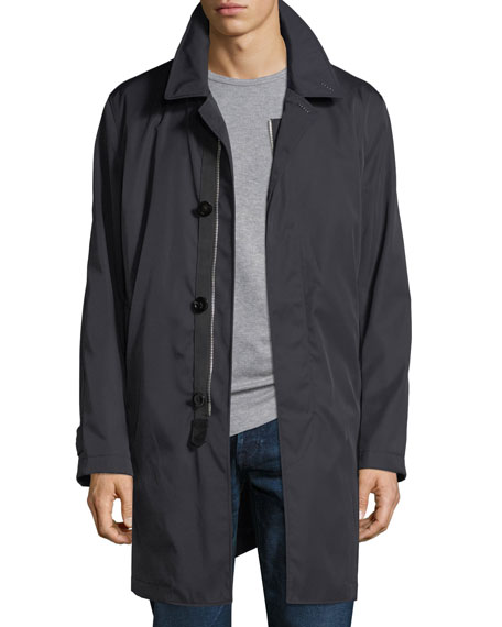 Single-Breasted Rain Coat