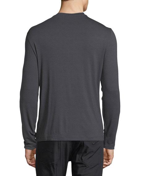 Brushed Striped Long-Sleeve T-Shirt