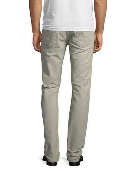 Straight-Fit Denim Jeans, Light Beige