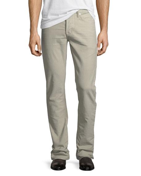 TOM FORD Straight-Fit Denim Jeans, Light Beige