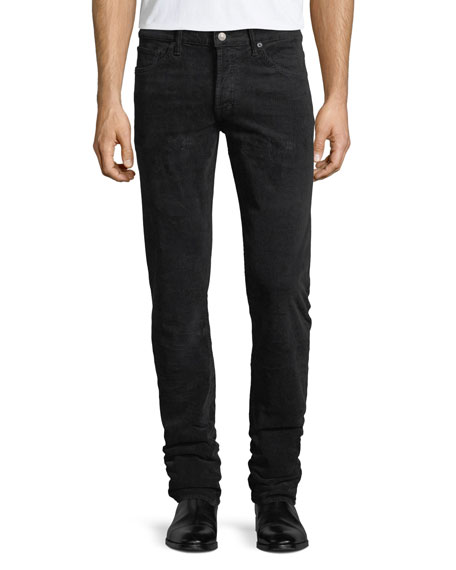 5-Pocket Slim-Leg Corduroy Pants
