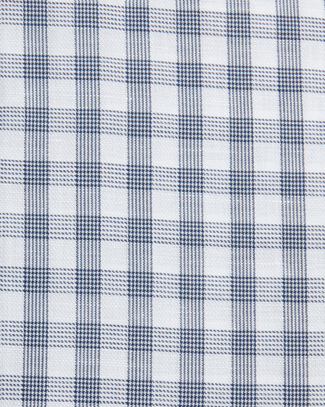 Check Cotton-Linen Dress Shirt