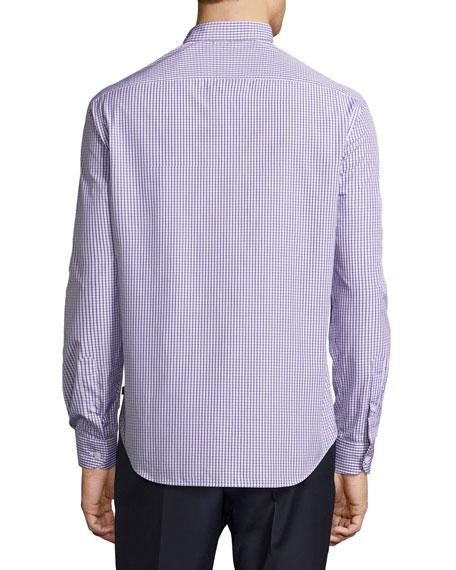 Box Check Cotton Sport Shirt, Multicolor