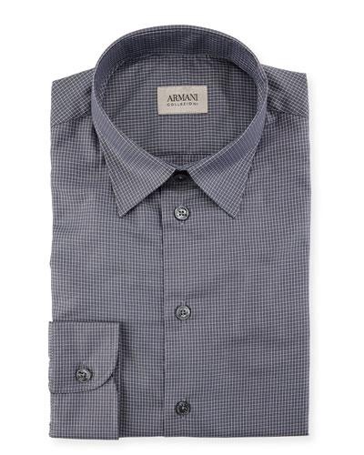 Mini Box Check Cotton Sport Shirt