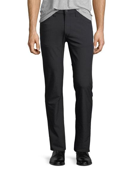 New Stretch-Nylon Five-Pocket Pants, Black