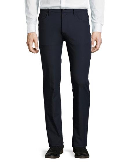 New Stretch-Nylon Five-Pocket Pants, Blue