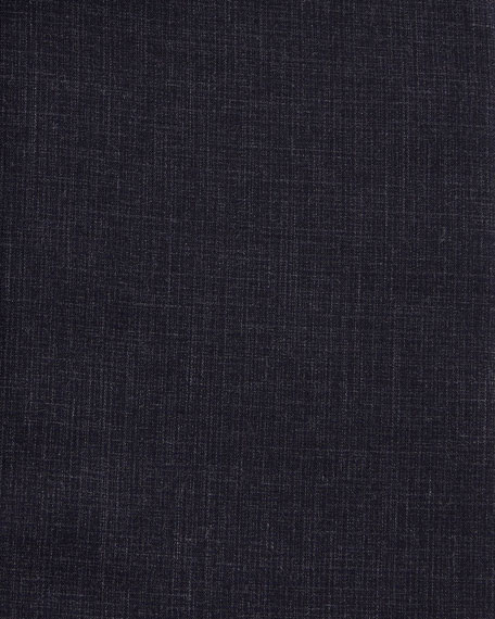 Slim-Fit Tonal Check Dress Shirt, Navy