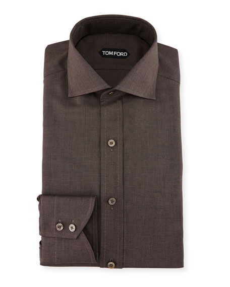 Slim-Fit Pin-Dot Dress Shirt