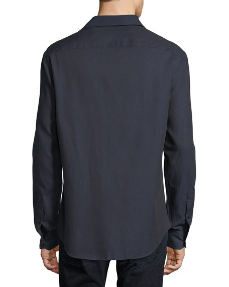 Tonal Diamond Sport Shirt