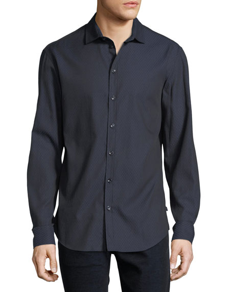 Tonal Diamond Sport Shirt