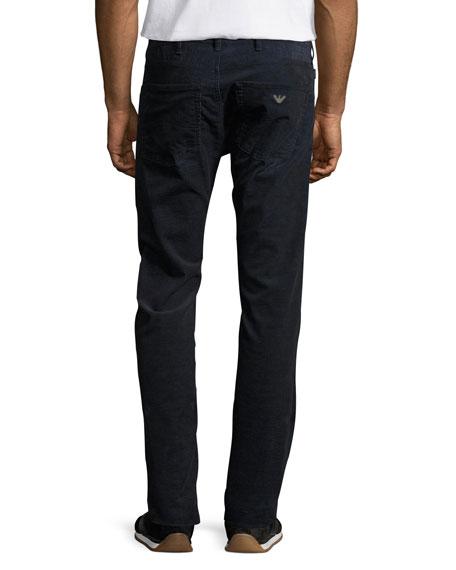 Corduroy 5-Pocket Pants, Blue