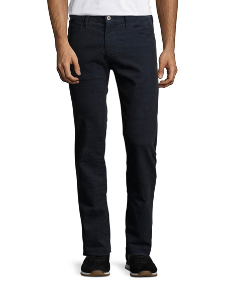Armani Collezioni Corduroy 5-Pocket Pants, Blue