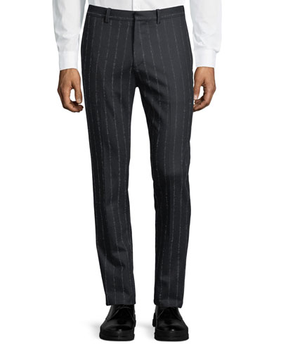 Zaine TT Wool-Blend Striped Pants