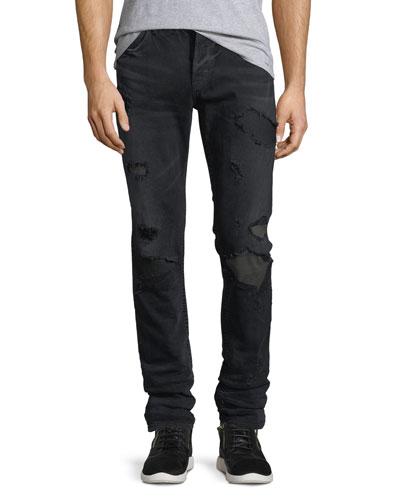 Sartor Skinny Jeans w/ Camo Backing