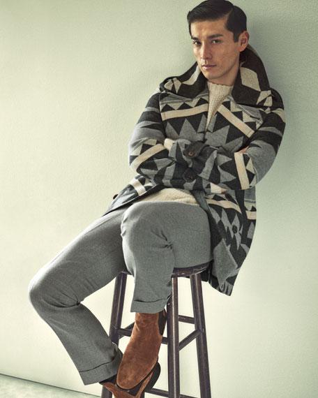 Air-Spun Seed-Stitch Cashmere Sweater, Cream