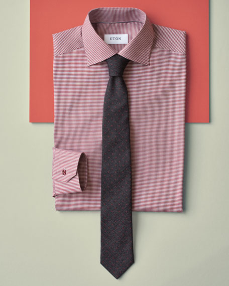 Dot-Print Silk-Blend Tie