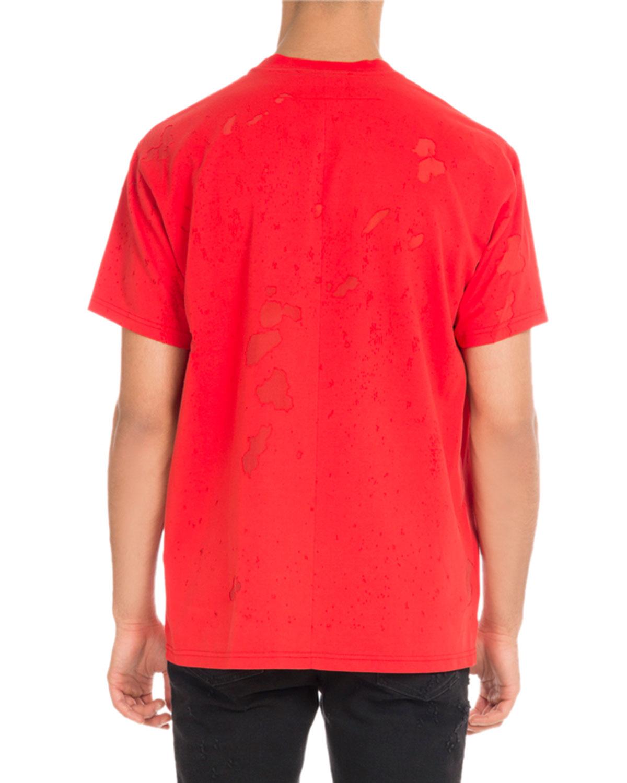 0e0bd719e Givenchy Columbian-Fit Distressed Logo T-Shirt
