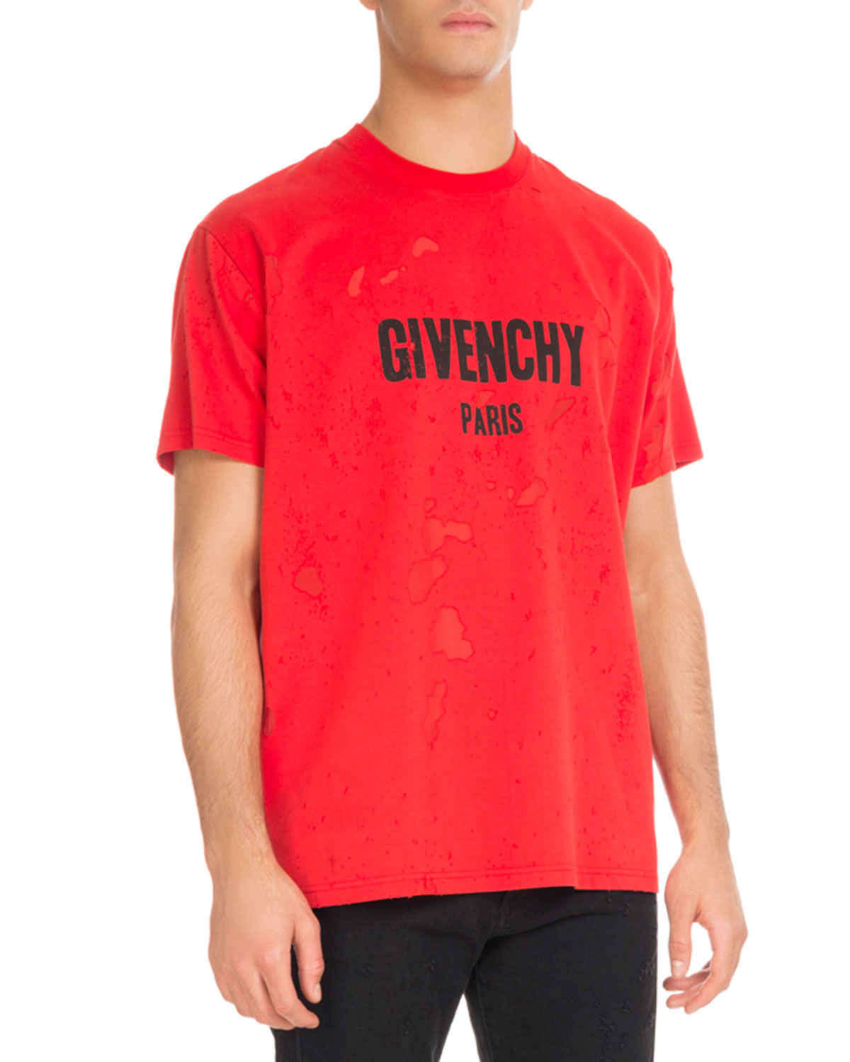 effc90966c40 Givenchy Columbian-Fit Distressed Logo T-Shirt