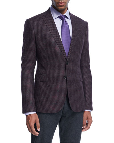 Check Wool Two-Button Sport Coat