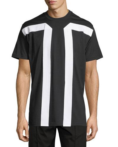 Columbian-Fit Ribbon Cotton T-Shirt